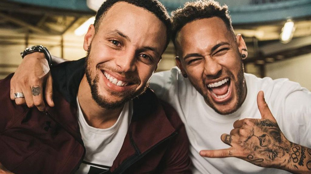 El emotivo intercambio de mensajes de Neymar y Stephen Curry