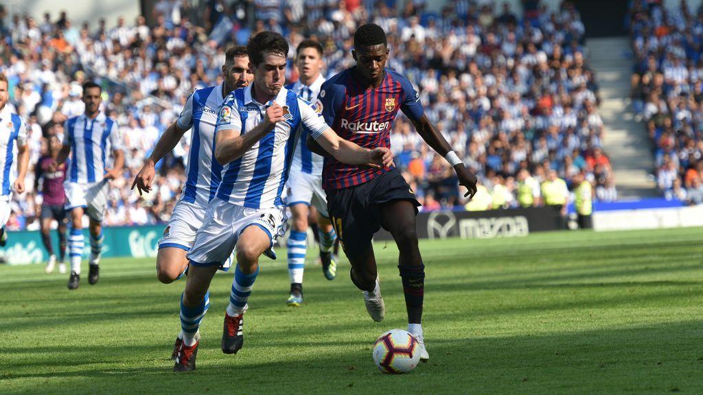 El Barcelona remonta en el nuevo Anoeta (1-2)