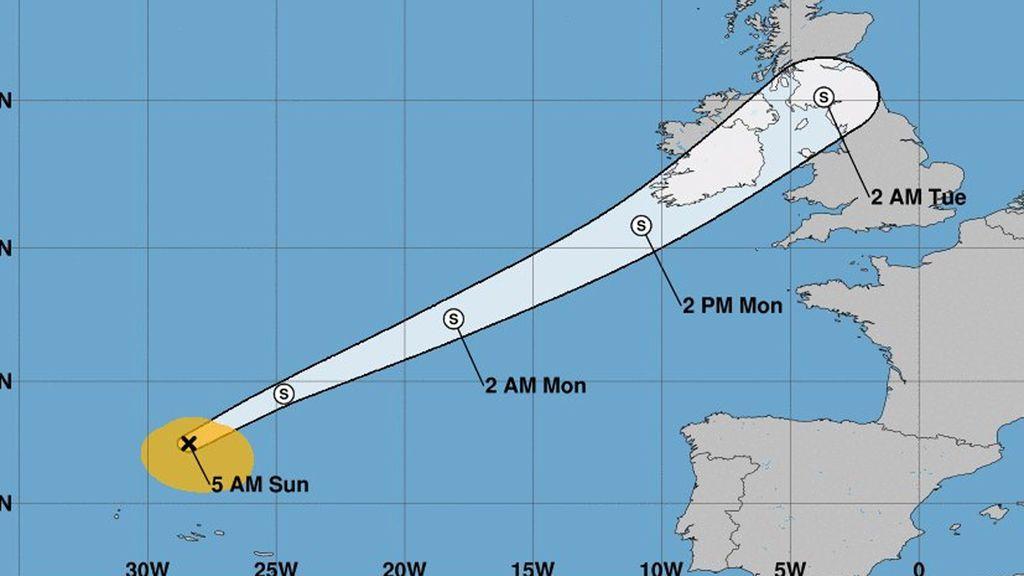 El ciclón Helene se dirige a Reino Unido y podría notarse entre Fisterra y Bares
