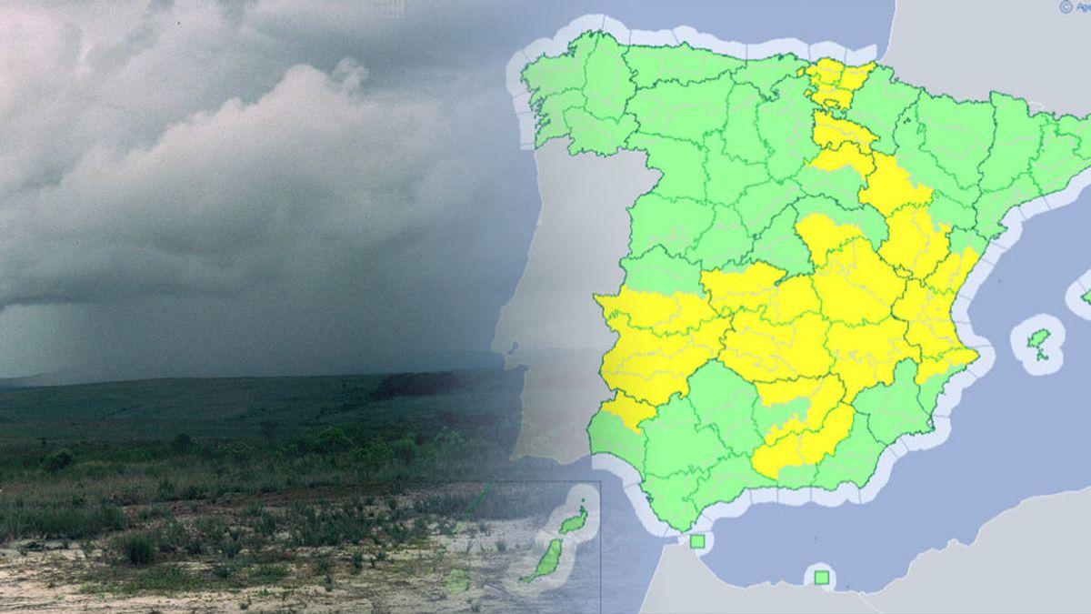 Veintiuna provincias en aviso amarillo por intensas tormentas