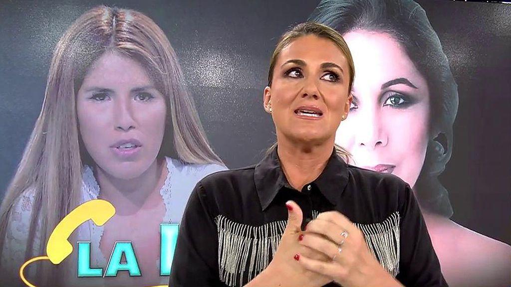 Carlota Corredera se emociona dando las gracias por la entrevista de Isabel Pantoja