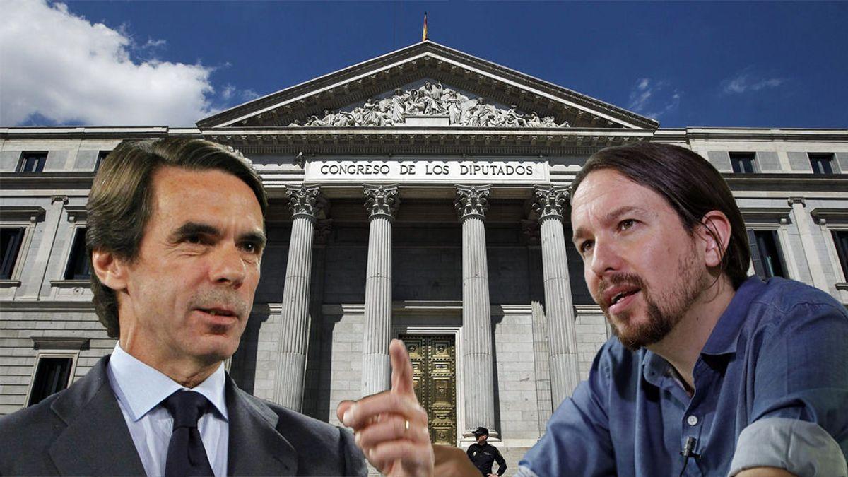 Menos de 24 horas para el cara a cara entre Iglesias y Aznar en la comisión que investiga la financiación del PP