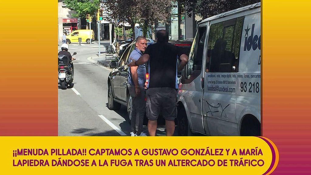 Gustavo González y María Lapiedra han intentado darse a la fuga tras un altercado de tráfico, según un testigo