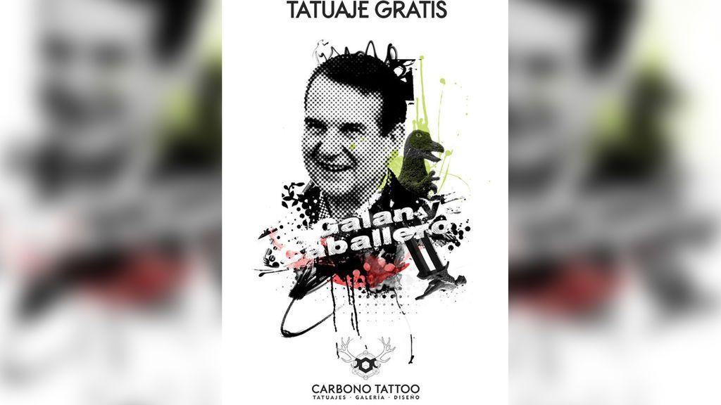 Regalan un tatuaje con la cara del alcalde de Vigo