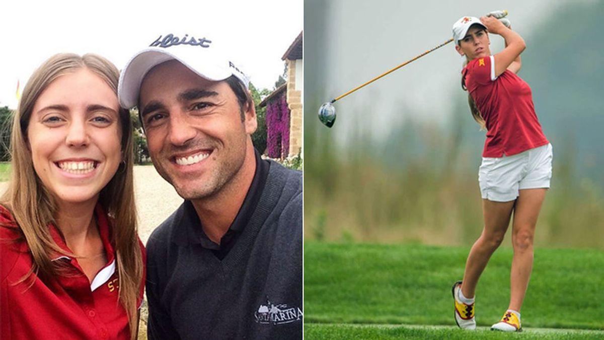 El día que David Bustamante se rindió ante Celia Barquín y le pidió una foto al verla jugar al golf