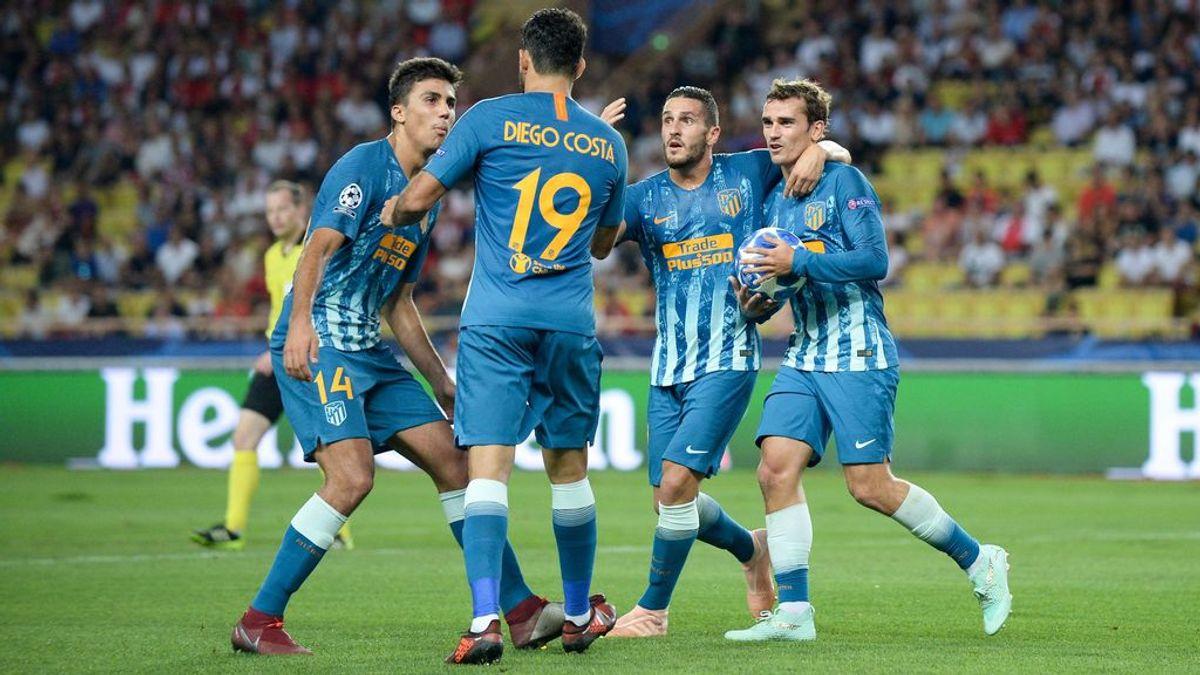 El Atlético tira de galones ante el Mónaco y arranca 'su' Champions con victoria (1-2)
