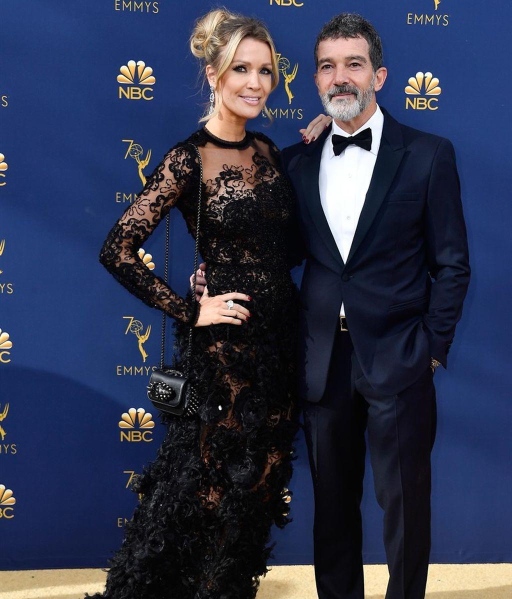Emmy. Antonio Banderas y Nicole Kimpel.