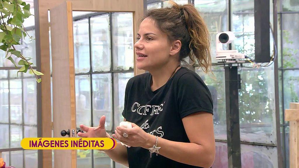 Imágenes inéditas de 'GH VIP': Mónica Hoyos se sorprende con la actitud de Makoke con Miriam Saavedra