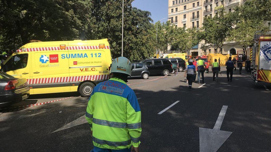 Un derrumbe durante las obras del hotel Ritz de Madrid deja al menos cinco heridos