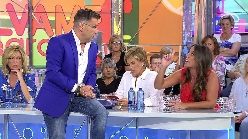 """El pique de Anabel Pantoja con Jorge Javier Vázquez: """"¡Todo el mundo con lo suyo y yo quiero decir lo mío!"""""""