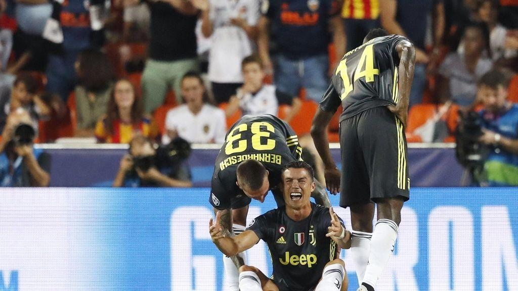 Las lágrimas de Cristiano Ronaldo tras ser expulsado en Mestalla