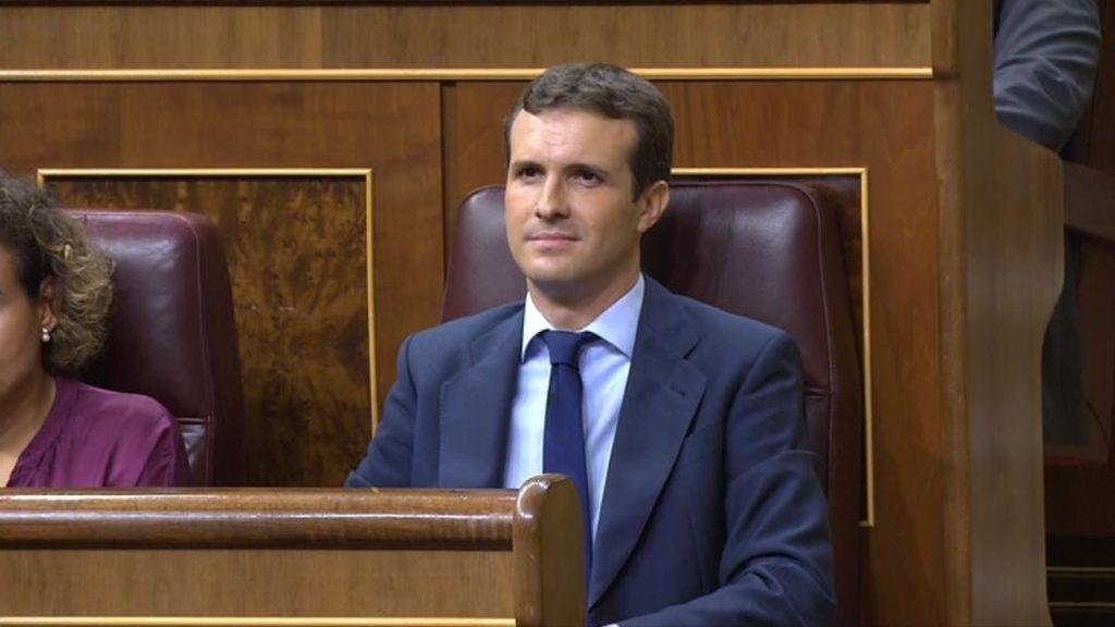 Casado y Sánchez se enzarzan en el Conrgeso a cuenta de la convocatoria de elecciones