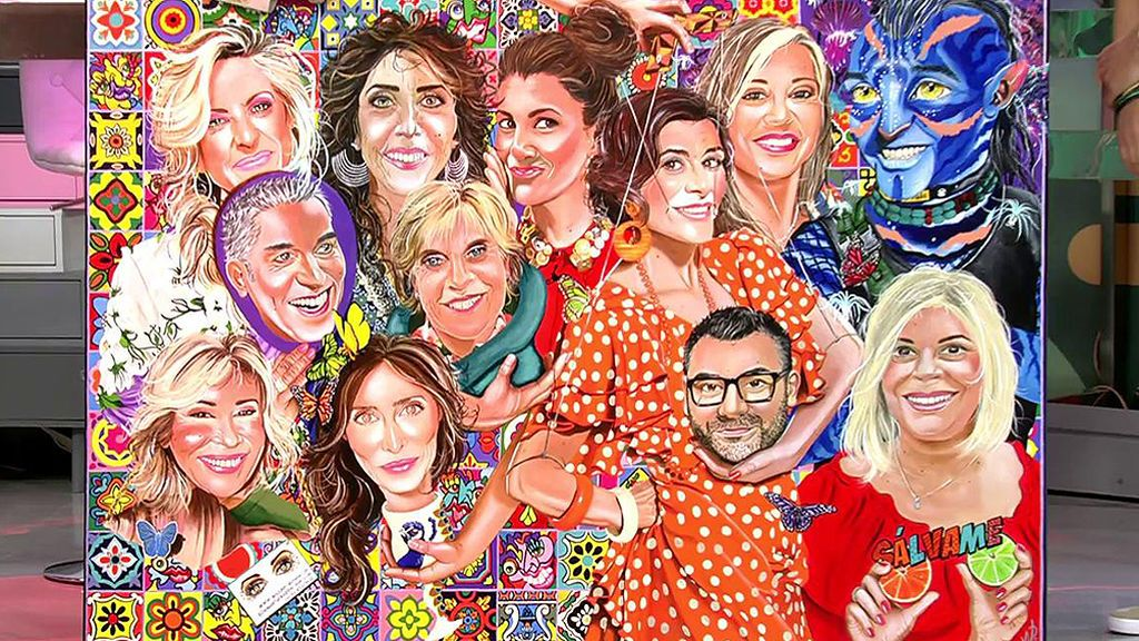 """Un artista holandés pinta un cuadro con todos los colaboradores y Paz Padilla se ve como un """"monstruo"""""""