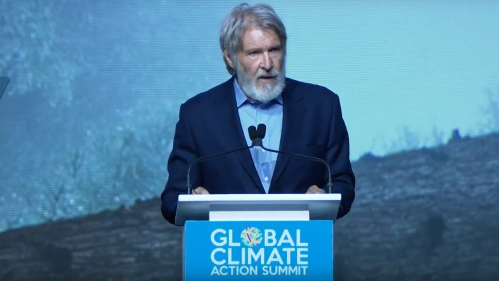 Ocho frases del discurso viral que ha hecho Harrison Ford sobre el cambio climático