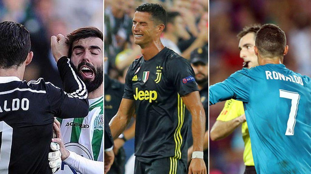 Patadas, manotazos, empujones al árbitro… Las once expulsiones de Cristiano Ronaldo en su carrera deportiva