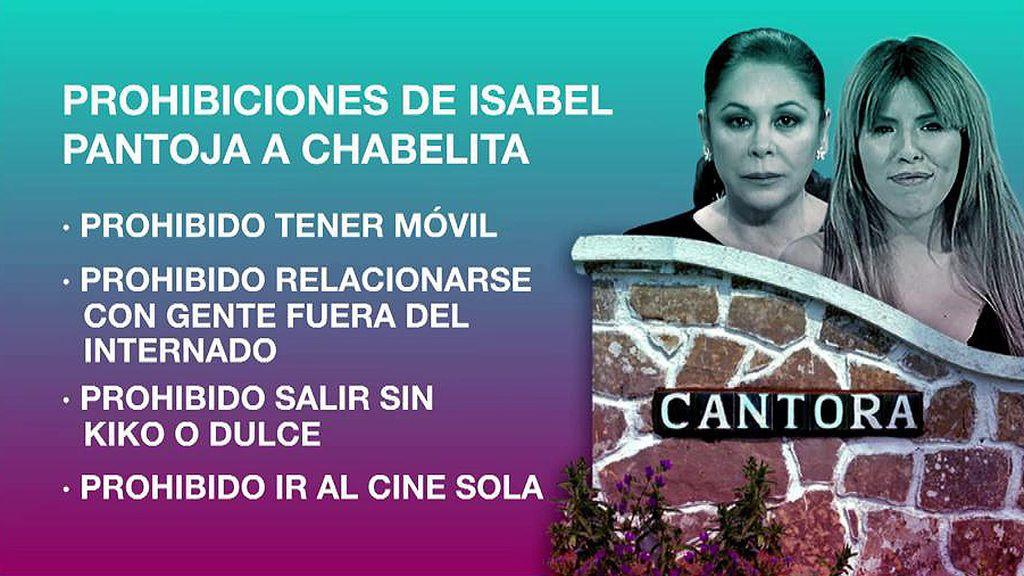Las prohibiciones de Isabel Pantoja a Chabelita cuando vivía en Cantora