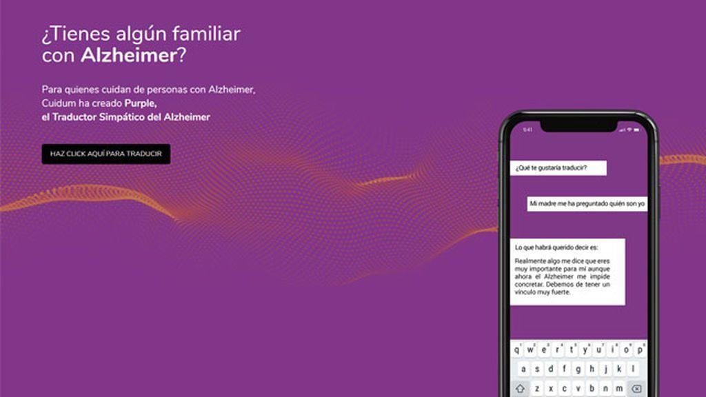 Purple, traductor de personas con Alzheimer