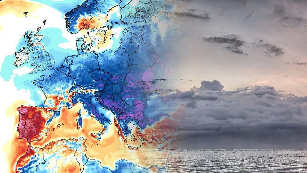 10ºC por debajo de lo normal: la masa de aire del Ártico cerrará el verano de golpe en Europa a partir del lunes