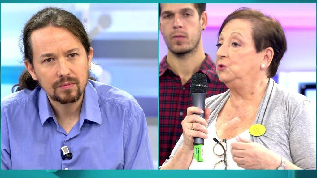 """La pregunta de Amparo a Iglesias: """"¿Qué vais a hacer para que volvamos a creer en ustedes?"""