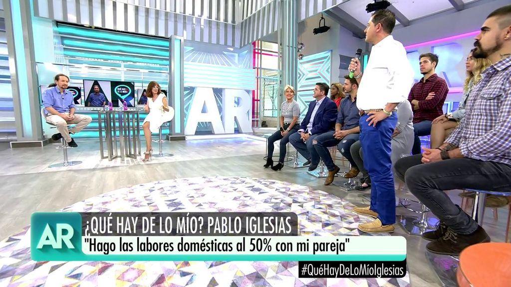"""Pablo Iglesias, sobre las labores domésticas: """"La cocina no la llevo mal, pero ahora me toca calentar biberones """""""
