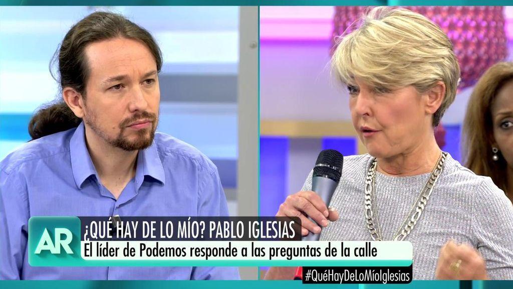 """Desempleada, a Iglesias: """"¿No les avergüenza no tener ningún plan de inserción laboral para mujeres mayores?"""""""