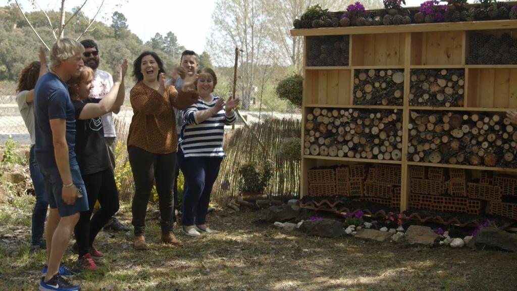Calleja pone remedio a la desaparición de las abejas en Las Hurdes creando dos hoteles de insectos