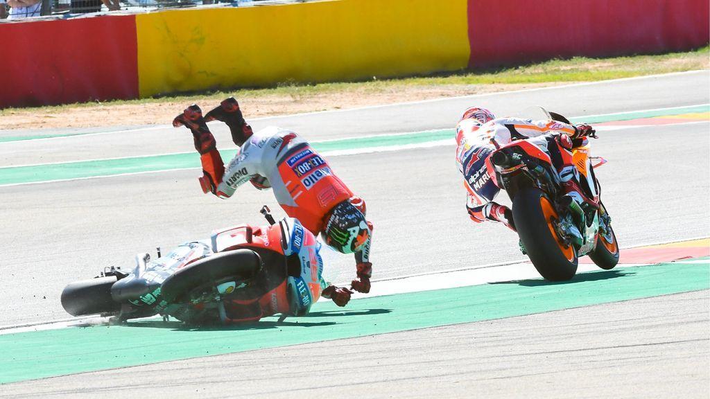 """Lorenzo estalla contra Márquez: """"Espero que me pida disculpas y que no me lo vuelva a hacer"""""""