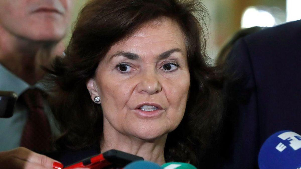 """Carmen Calvo cree que """"no sería lógico alargar la prisión preventiva"""" si el juicio a los presos soberanistas tarda"""