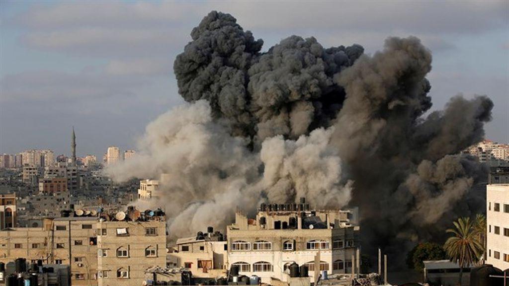Al menos once heridos en la Franja de Gaza por un ataque aéreo israelí en la frontera
