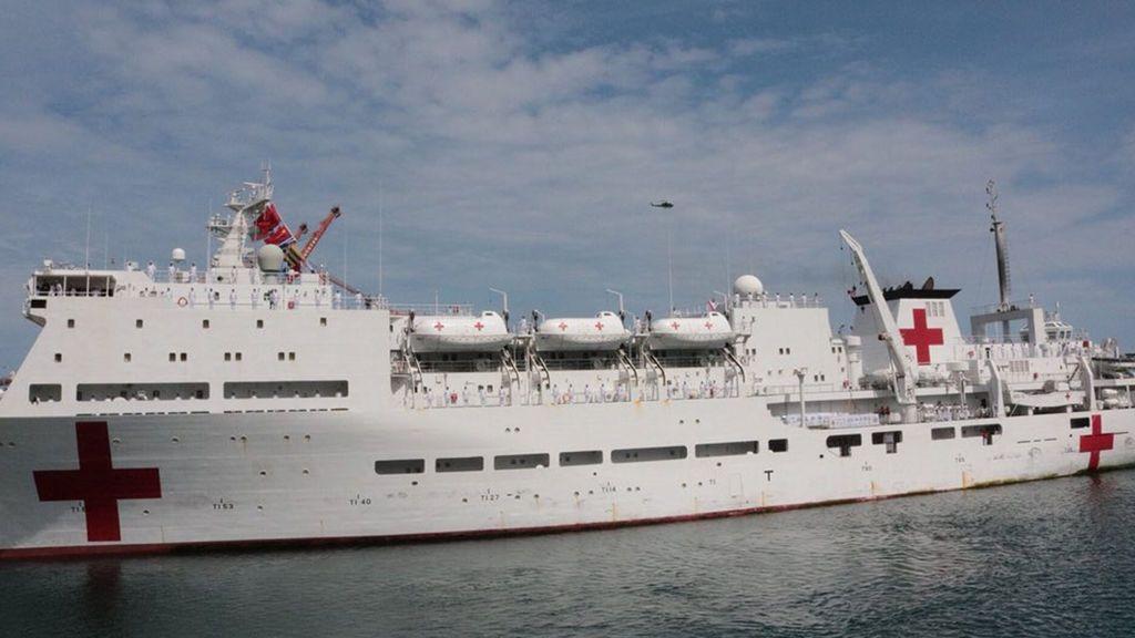 El buque hospital chino 'Arca de la Paz' llega a Venezuela en medio de crisis de salud