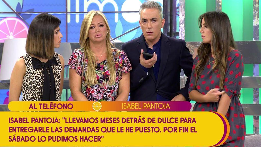 """Isabel Pantoja: """"Mi abogada tuvo que entrar en la habitación de hotel de Dulce para entregarle mis demandas"""""""