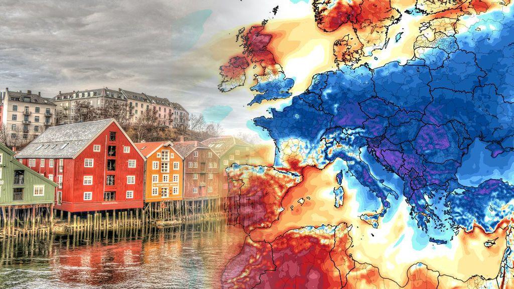El aire frío polar atraviesa Europa: en España nos asamos mientras allí se congelan