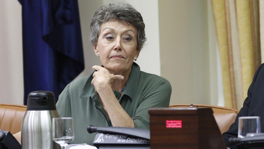 Rosa María Mateo, en su primera comparecencia ante la Comisión Mixta Congreso-Senado de Control de RTVE.