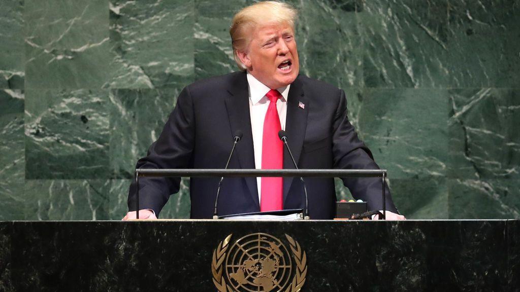 """Risas en la ONU cuando Trump dice que EEUU es """"más fuerte, más seguro y más rico"""" desde que es presidente"""