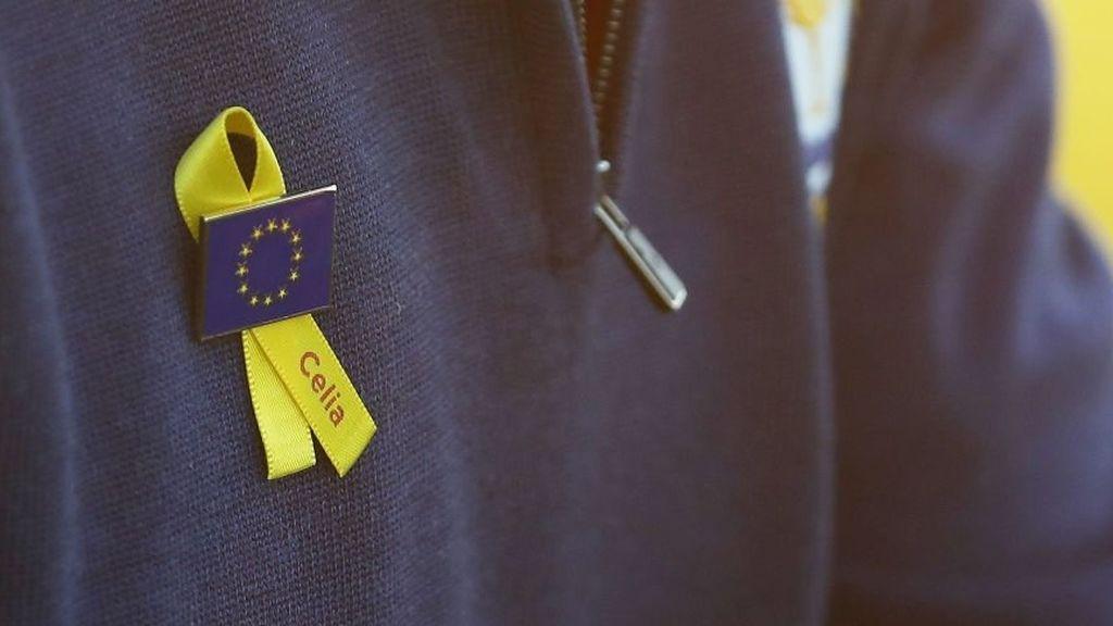 Los golfistas europeos de la Ryder portarán un lazo amarillo en recuerdo a Celia Barquín