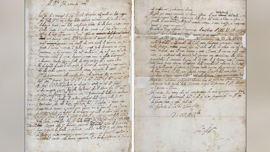 Encuentran una carta de Galileo en la que suavizó sus ideas para engañar a la Inquisición