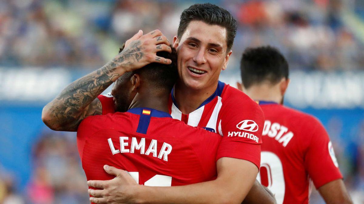 Giménez no se descarta para el derbi del Bernabéu pese a la lesión que sufrió ante el Huesca