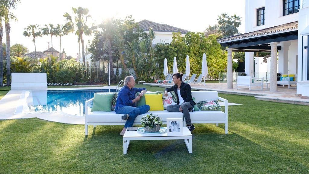 Julio Iglesias Jr. y Bertín Osborne, en 'Mi casa es la vuestra'.