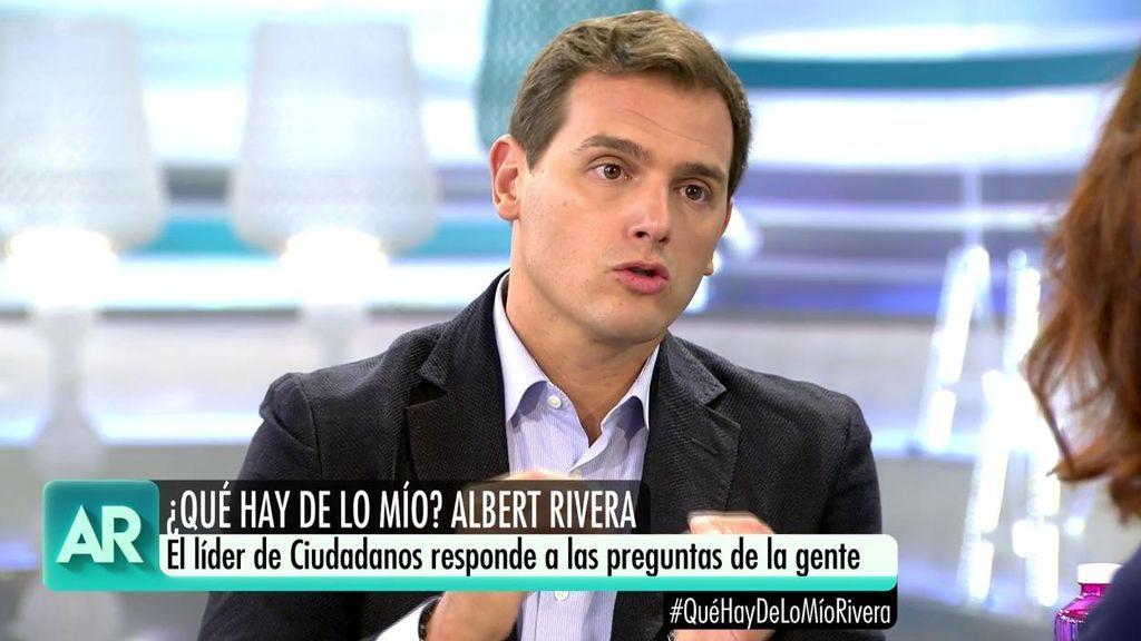 """Albert Rivera responde a Ana Rosa: """"El gobierno de Sánchez hace aguas porque ha llegado por la puerta de atrás"""""""
