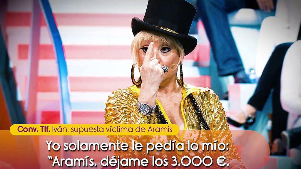 """Los audios en los que presuntamente Aramís estafa 3.000€ a un cantante: """"Puedo hablar con Paulina Rubio o Julio Iglesias"""""""