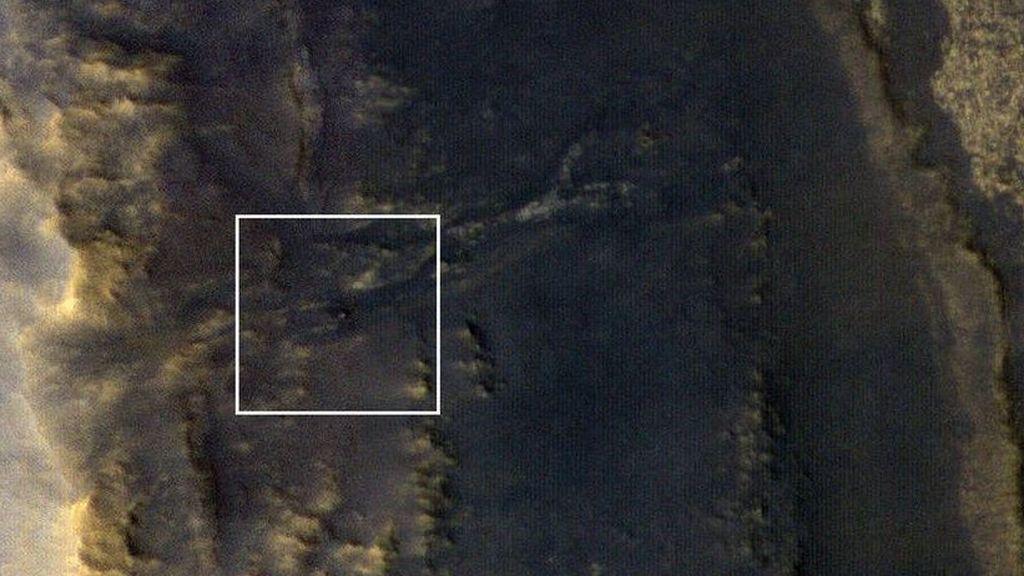 La NASA difunde una imagen con la ¿muerte? del Opportunity