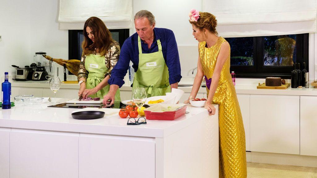 Mariló Montero, Bertín Osborne y Ágatha Ruiz de la Prada, en 'Mi casa es la vuestra'.