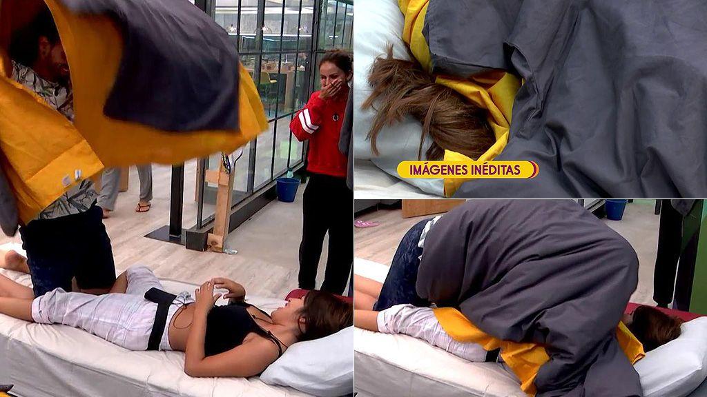 ¡En vídeo! Las imágenes inéditas del ¿edredoning? de Isa Pantoja y Asraf en 'Gran Hermano VIP'