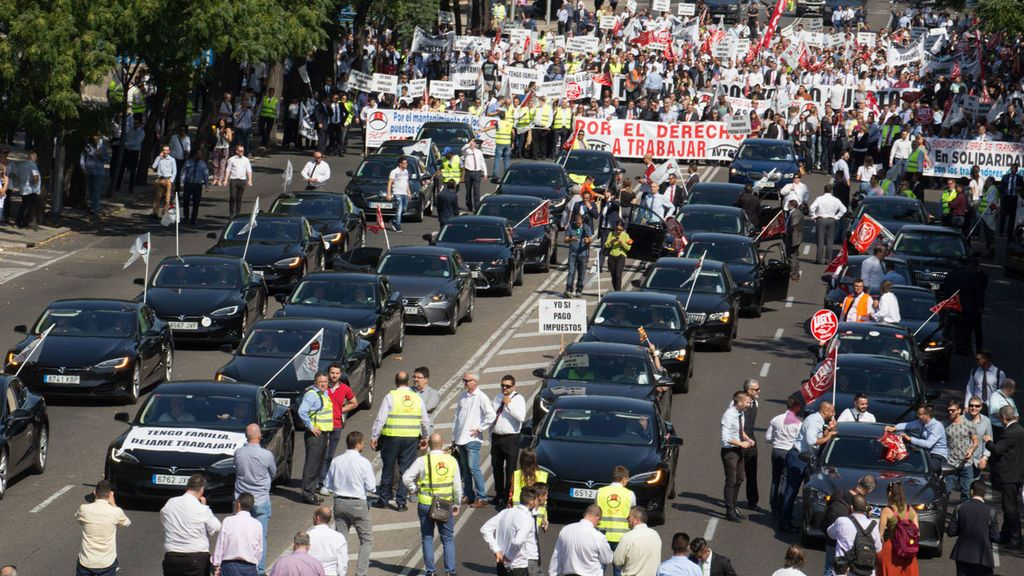 Los conductores de VTC desconvocan la protesta en Madrid de este viernes