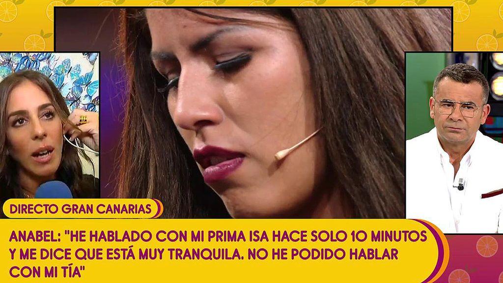 """Anabel Pantoja, sobre la polémica con su prima y su tía: """"Isa está bien y tranquila"""""""