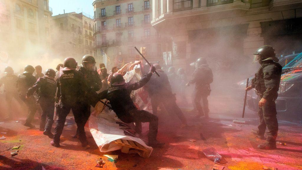 Insultos, amenazas y agresiones tras las manifestaciones en Barcelona