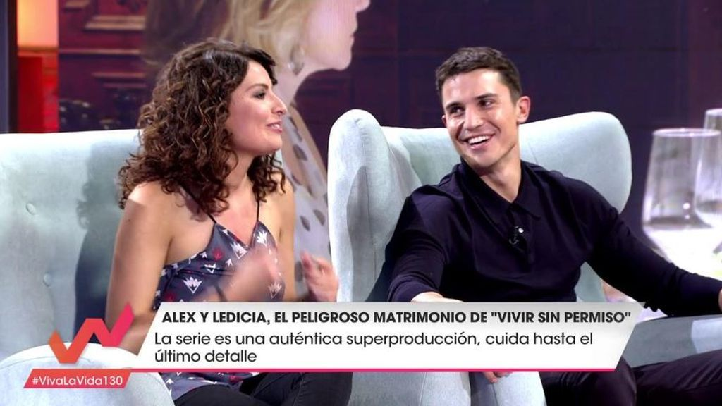 La cómica anécdota de cómo Ledicia 'arruinó' el guión de Álex González en 'Vivir sin permiso'