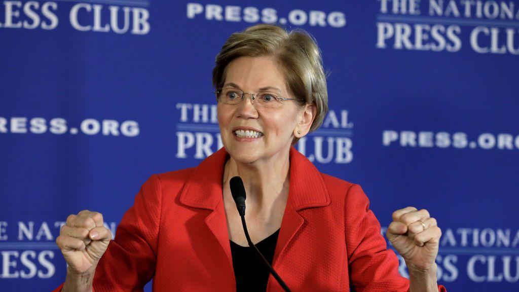 La senadora demócrata Elizabeth Warren  posible candidata presidencial en 2020