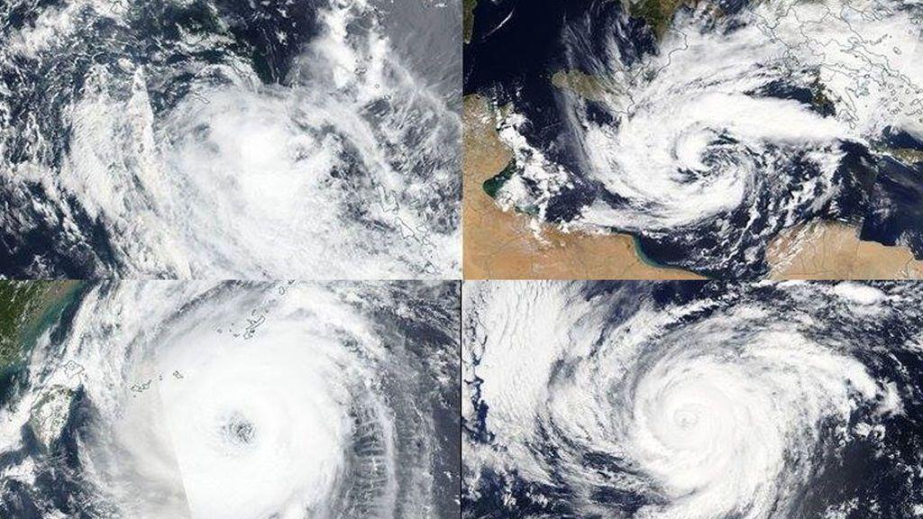 Coinciden un medicane, dusticane, tifón, huracán y ciclón tropical: analizamos qué está pasando