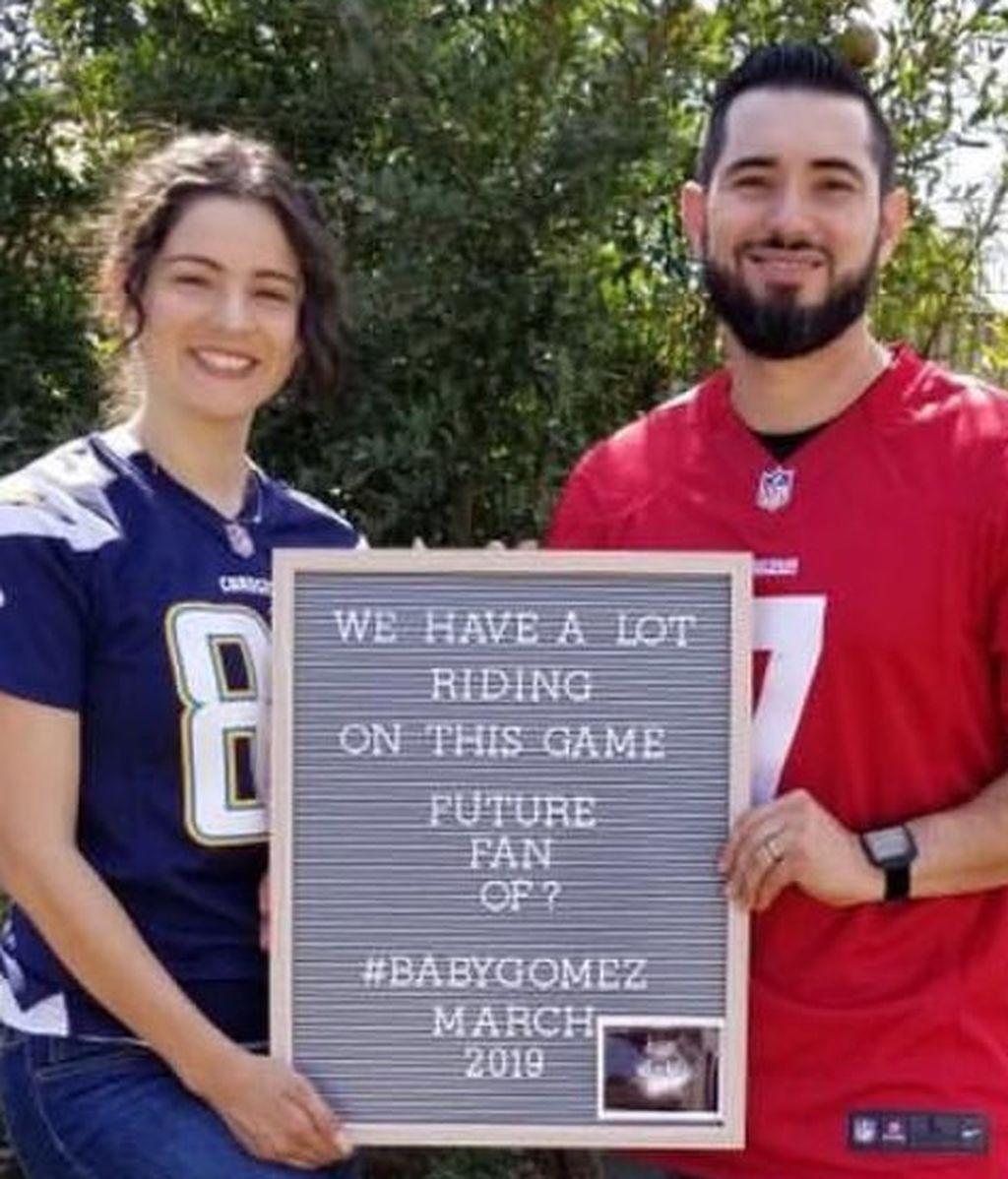 La ingeniosa manera con la que una pareja ha decidido de qué equipo será socio su futuro bebé